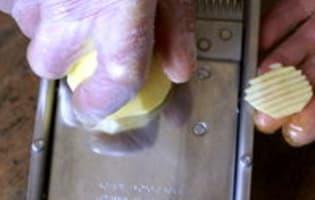 Pommes gaufrettes - Etape 2