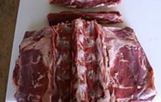 Désosser une selle d'agneau  - Etape 4
