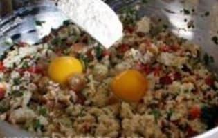 Beignets de pain au poivrons - Etape 5