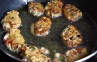 Beignets de pain au poivrons - Etape 7