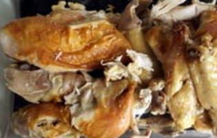 Poulet de Bresse rôti en papillote - Etape 11