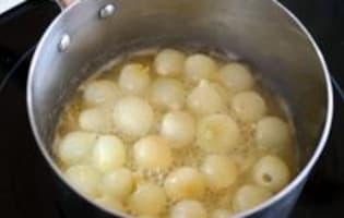 Petits oignons glacés - Etape 5