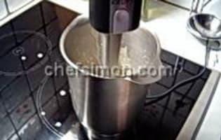 Sauce et espuma réglisse  - Etape 3