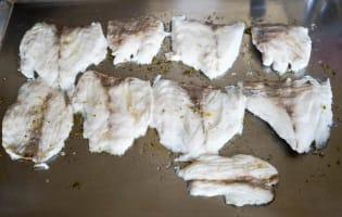 Salade de bar tiède à l'huile de noisette - Etape 8