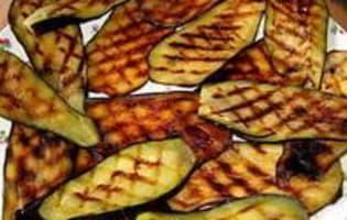 Tranches d'aubergines grillées - Etape 3