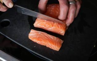 Dés de saumon mi-cuit - Etape 8