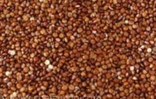 Flans de quinoa rouge - Etape 1