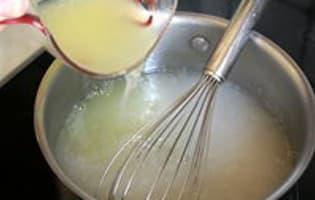 Sorbet citron basilic - Etape 5