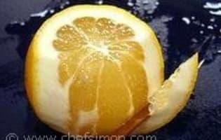 Lever des suprêmes de citron - Etape 2