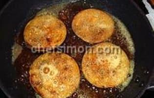 Aubergines frites aux épices - Etape 4