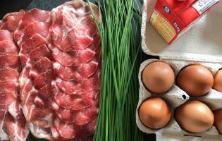 Oeufs cocotte, bacon, ciboulette - Etape 1