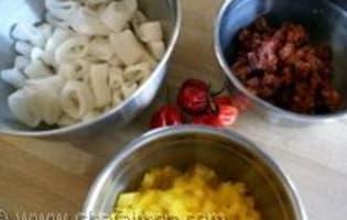Risotto calamars et chorizo - Etape 3