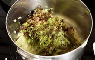 Salade cuite en chiffonnade - Etape 4