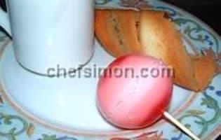 Sucettes de mousse gélifiée - Etape 6
