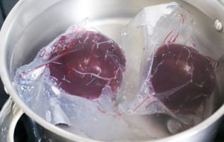 Betteraves rouges cuites sous-vide - Etape 5