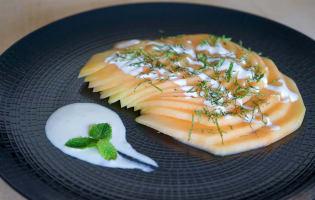 Carpaccio de melon à la menthe - Etape 9