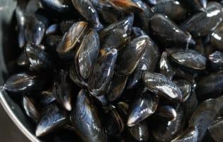Moules marinière - Etape 1