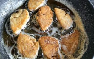 Croustillant de ris de veau sur écrasé de topinambours - Etape 6