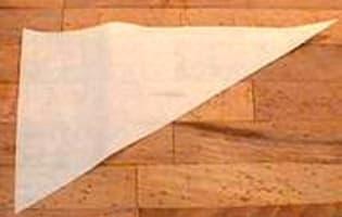 Cornet en papier sulfurisé - Etape 1