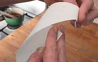 Cornet en papier sulfurisé - Etape 2