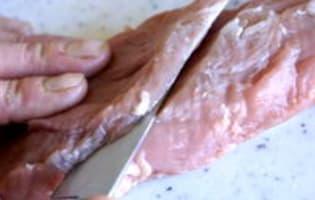 Parer et détailler un filet mignon - Etape 5