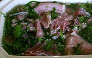 Terrine de jarret de porc aux herbes - Etape 9