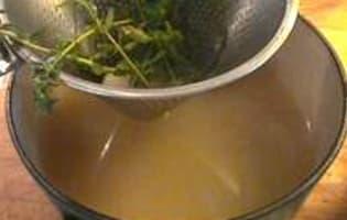 Sauce au gingembre et citron confit - Etape 1