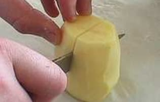 Pommes de terre tournées - Etape 3