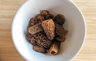 Fricassée de ris de veau aux morilles - Etape 2