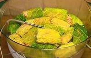 Saumon en feuilles de chou - Etape 7