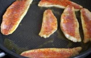 Filets de rougets sur canapés - Etape 3