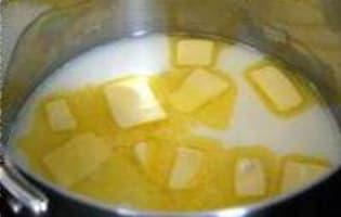 Gougères à la mimolette - Etape 1