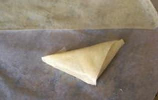 Samoussas framboises chocolat blanc - Etape 10