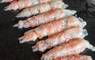 Wok de porc, crevettes et langoustines - Etape 2