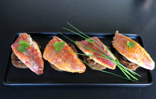 Filets de rougets sur canapés  - Etape 6