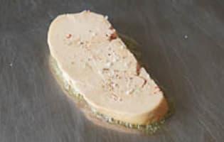 Escalopes de foie gras frais poêlées - Etape 8
