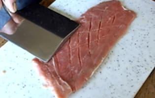 Escalopes de veau sautées - Etape 1