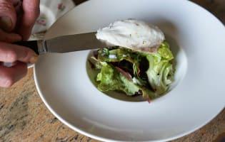 Salade de bar tiède à l'huile de noisette - Etape 10