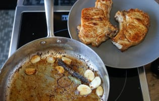 Côtes de veau à la gousse d'ail - Etape 7