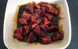 Brochettes de boeuf teriyaki et houmous au paprika en cuillères végétales - Etape 2