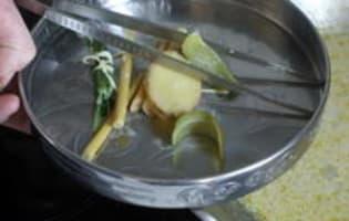 Curry vert de lotte - Etape 11