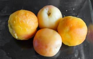 Pocher des fruits au sirop - Etape 6
