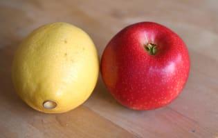 Millefeuille de Saint-Jacques à la pomme - Etape 1