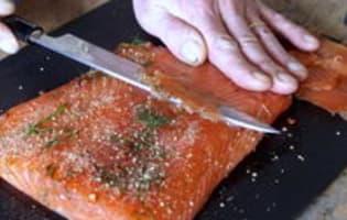 Gravlax de saumon - Etape 12