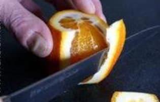 Ecorces d'oranges confites  - Etape 3