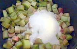 Compote de rhubarbe - Etape 6