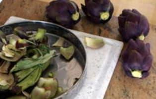 Artichauts poivrade sautés - Etape 1