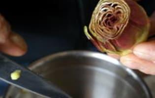 Artichauts poivrade sautés - Etape 2