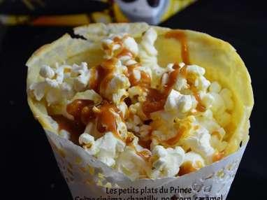 Crêpe cinéma au pop corn pour Chandeleur