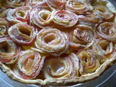 Tarte aux pommes bouquet de roses façon Alain Passard